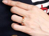 【送料無料】ペアリング結婚指輪ダイヤモンドマリッジリングダイヤモンドリングピンクゴールドk1818金幅広結婚式人気ダイヤストレートカップル