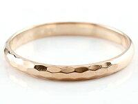 【送料無料】ペアリングピンクトルマリンピンクゴールドk18人気結婚指輪マリッジリング18金結婚式シンプルストレートカップル