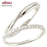 【送料無料】ペアリングハードプラチナ950結婚指輪マリッジリングハーフエタニティダイヤモンドハードプラチナ950pt950極細華奢ストレートペアリィーカップル