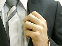 【送料無料】ペアリング結婚指輪マリッジリングハーフエタニティダイヤモンドイエローゴールドk1010金極細華奢ストレートペアリィーカップル