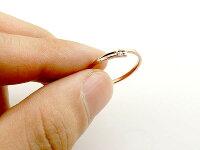 ペアリング 結婚指輪 ゴールド マリッジリング ダイヤモンド ピンクゴールドk10 ホワイトゴールドk10 一粒 10金 華奢 スパイラル スイートペアリィー 送料無料 の 2個セット 人気