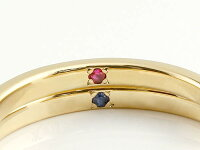 【送料無料】スイートハグリングペアリング結婚指輪マリッジリングイエローゴールドk1818金フリーサイズリング指輪天然石結婚式ストレートカップル