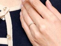 【送料無料】ペアリング結婚指輪マリッジリングダイヤモンドホワイトゴールドk10ダイヤ10金極細華奢アンティーク結婚式ストレートペアリィーカップル