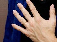 【送料無料】ペアリング結婚指輪マリッジリングイエローゴールドk18k18極細華奢アンティーク結婚式ストレート18金ペアリィーカップル