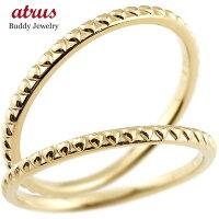 【送料無料】ペアリング結婚指輪マリッジリングハートイエローゴールドk10極細華奢アンティーク10金結婚式ストレートペアリィーカップル