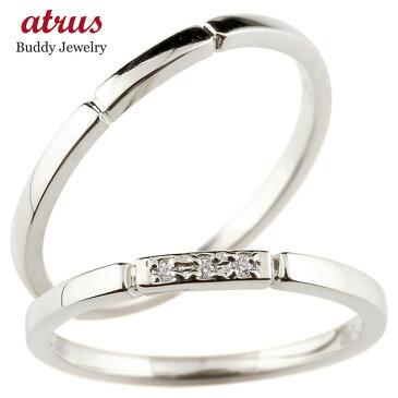 結婚指輪 マリッジリング ペアリング ダイヤモンド スイートペアリィー シルバー925 結び リング sv925 華奢 ストレート ファッション パートナー