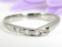 【送料無料】ペアリング結婚指輪マリッジリングホワイトゴールドk1010金ストレートカップル