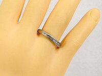【送料無料】結婚指輪マリッジリングペアリングダイヤモンドピンクサファイアホワイトゴールドk10指輪10金ダイヤストレートカップル