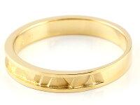 ペアリングイエローゴールドk10マリッジリング結婚指輪ストレートカップル18金宝石なし地金