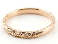 【送料無料】ペアリング結婚指輪マリッジリングピンクゴールドk18プラチナ900pt900アンティーク結婚式ストレート18金地金リングカップルクリスマスプレゼント