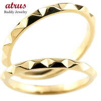 【送料無料】ペアリングマリッジリング結婚指輪イエローゴールドk18ストレートカップル18金宝石なし地金メンズレディースクリスマスプレゼント