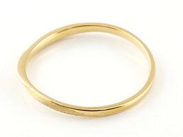 【送料無料】スイートペアリィーインフィニティペアリング結婚指輪マリッジリングダイヤモンドイエローゴールドk10S字つや消し一粒10金華奢クリスマス