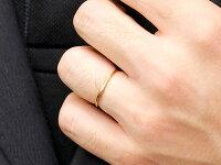 【送料無料】スイートペアリィーインフィニティペアリング結婚指輪マリッジリングダイヤモンドイエローゴールドk18ストレート一粒18金華奢クリスマス