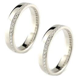 【ポイント10倍】ペアリング プラチナ 結婚指輪 ダイヤモンド レディース マリッジリング 結婚指輪 エタニティ フルエタニティ ダイヤ トラスト 女性 送料無料 の 2個セット 人気