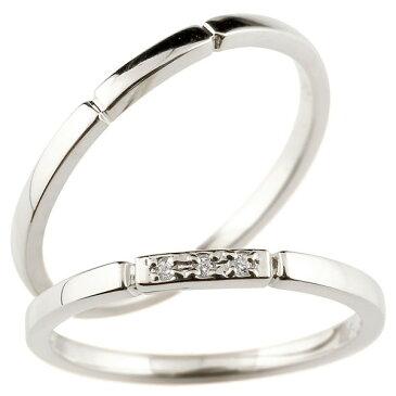 ペアリング 結婚指輪 2本セット ダイヤモンド シルバー925 スイートペアリィー マリッジリング sv925 華奢 ストレート プレゼント メンズ レディース