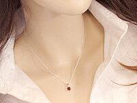 【送料無料】ガーネットダイヤモンドペンダントネックレスホワイトゴールドK18チェーン人気18金ダイヤ