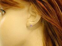 【送料無料】ピンクサファイアダイヤモンドピアスイエローゴールドk189月誕生石18金天然石ダイヤ