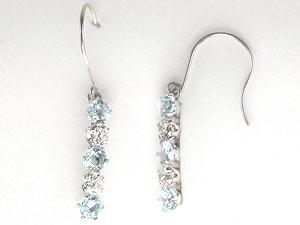 プラチナ ピアス ダイヤ プラチナピアス アクアマリン ダイヤモンド フックピアス プラチナ 3月誕生石 天然石 ダイヤ レディース 宝石 ギフト 贈り物 プレゼント ファッション お返し