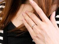 【送料無料】フラワー花リングアメジストダイヤモンドホワイトゴールドk18ピンキーリング指輪華奢リング重ね付け18金レディース2月誕生石