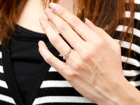 【送料無料】オープンハートシルバーリングブルームーンストーンダイヤモンド指輪ピンキーリング華奢リング重ね付けsvレディース6月誕生石