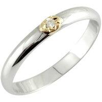 ピンキーリングダイヤモンドリングホワイトゴールドk18k18指輪18金ダイヤ4月誕生石ストレート