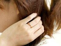 【送料無料】アメジストリング指輪ピンクゴールドk182月誕生石18金ストレートファッションリング