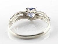 ハートプラチナリングアイオライトダイヤモンド指輪ダイヤファッションリング