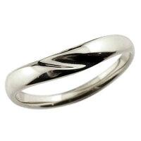 【送料無料】V字リング指輪ホワイトゴールドk18ピンキーリング地金リング18金ブイ字シンプルレディース宝石なしウェーブリングファッションリング