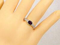 ロードライトガーネットリングプラチナ指輪ダイヤモンド1月誕生石ピンキーリング18金ダイヤストレートファッションリング