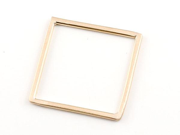ピンキーリング リング スクエア ピンクゴールドk18 18金 宝石なし 地金リング 指輪 四角 ホーニング ファッション