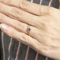 婚約指輪安いゴールドリングダイヤモンドアメジスト一粒レディース指輪10kピンクゴールドk10エンゲージリング大粒ミル打ち女性送料無料
