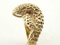 【送料無料】スネークリング蛇指輪ピンキーリングイエローゴールドk18地金リング宝石なし18金