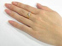 【送料無料】オープンハートリングアメジストダイヤモンド指輪イエローゴールドk1818金ダイヤ2月誕生石