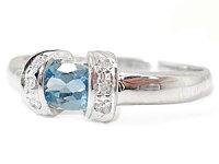 【送料無料】指輪プラチナリングサンタマリアアクアマリンリングダイヤモンドプラチナピンキーリング3月誕生石ダイヤストレート