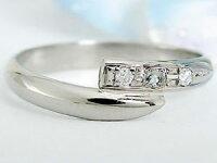 【送料無料】ピンキーリングダイヤモンドリングダイヤモンドアクアマリンプラチナリング指輪3月誕生石ダイヤストレート