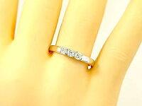 【送料無料】指輪ホワイトサファイアリングホワイトゴールドk18ピンキーリング18金9月誕生石ストレート