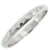 【送料無料】ピンキーリングダイヤモンドリングホワイトゴールドk18指輪ダイヤモンド18金ダイヤ4月誕生石ストレート