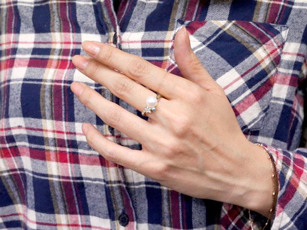 パールリング 真珠 フォーマル 星 スター ブルームーンストーン プラチナ900 リング ダイヤモンド ピンキーリング ダイヤ 指輪 スパイラル 妻 嫁 奥さん 女性 彼女 娘 母 祖母 パートナー