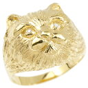 リング ダイヤモンド 猫 イエローゴールドk18 エンゲージリング 幅広 指輪 ピンキーリング 婚約指輪 18金 宝石 ねこ ネコ レディース 妻 嫁 奥さん 女性 彼女 娘 母 祖母 パートナー