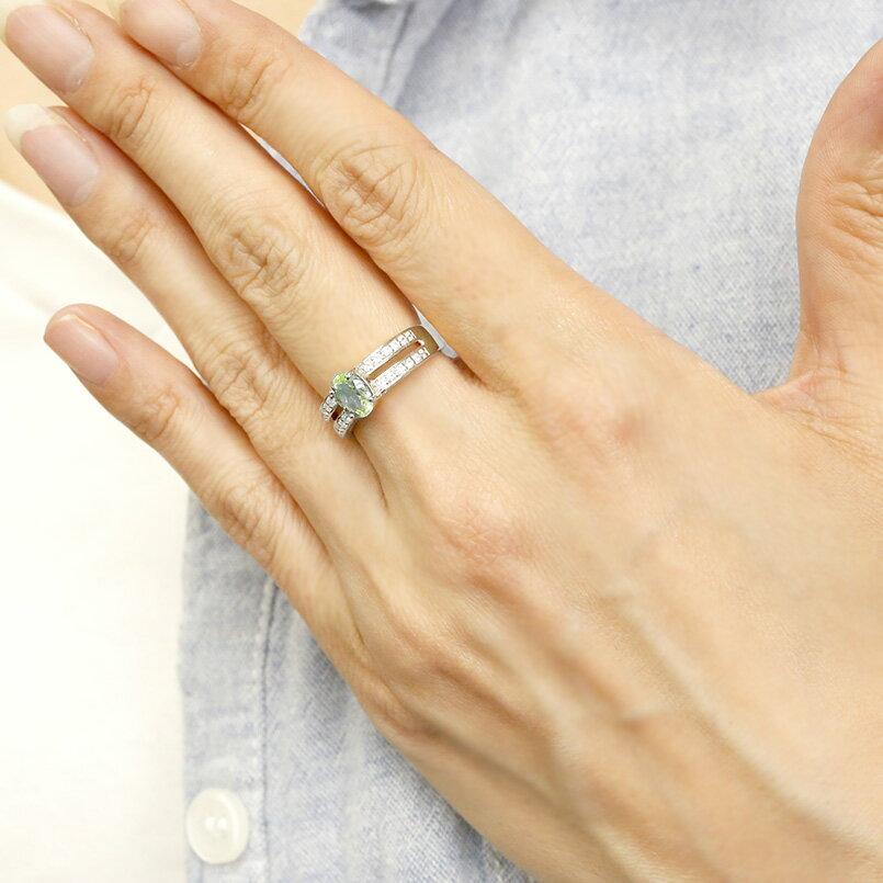 リング ダイヤモンド ペリドット ホワイトゴールドk18 婚約指輪 ピンキーリング ダイヤ 指輪 幅広 エンゲージリング 18金 レディース