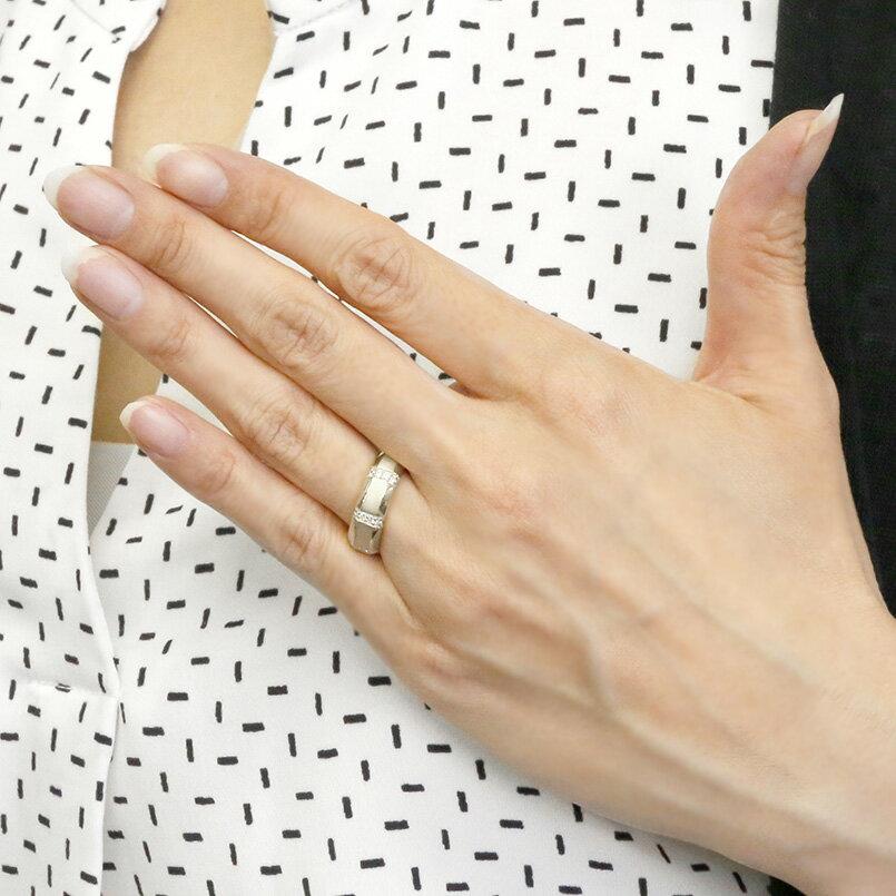 メンズ リング ホワイトゴールドk18 ブラックダイヤモンド 指輪 18金 サテン仕上げ ブラックダイヤ 幅広 ピンキーリング リング シンプル 男性用