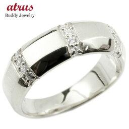 【ポイント10倍】婚約 指輪 リング シルバー925 ダイヤモンド ダイヤ エンゲージリング指輪 幅広 サテン仕上げ ピンキーリング sv925 宝石 レディース 送料無料 人気
