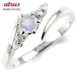 シルバー フリーサイズリング ブルームーンストーン ダイヤモンド 指輪 sv925 婚約指輪 エンゲージリング 送料無料 LGBTQ 男女兼用