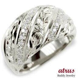 婚約指輪 ゴールド リング キュービックジルコニア ハワイアンジュエリー レディース 指輪 ホワイトゴールドk10 ピンキーリング 幅広 送料無料 人気