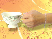 【送料無料】フルエタニティブレスレットピンクサファイアキュービックジルコニアホワイトゴールドK1818金