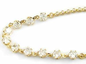 ダイヤモンド ブレスレット イエローゴールドk18 18金 チェーン ダイヤ 贈り物 誕生日プレゼント ギフト ファッション 妻 嫁 奥さん 女性 彼女 娘 母 祖母 パートナー