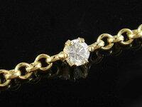 【送料無料】ダイヤモンドブレスレットイエローゴールドk1818金チェーンダイヤ