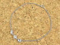 【送料無料】アクアマリンブレスレットホワイトゴールドK18花フラワー3月の誕生石アクアマリン18金チェーン