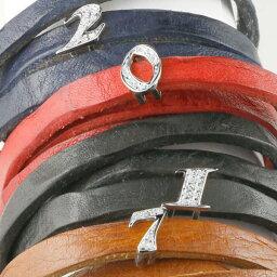 18金 選べる数字 ナンバー ブレスレット キュービックジルコニア 牛革 3周巻き ブラック ホワイトゴールドk18 地金 k18 送料無料 LGBTQ ユニセックス 男女兼用
