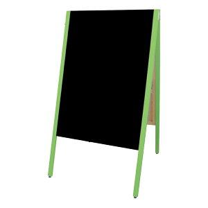 A型看板(特大)SAI-C90Gチョーク用グリーン枠・黒板・木製・両面サイロA型ブラックボードチョークタイプ
